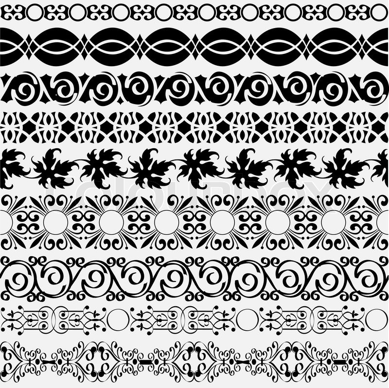 800x798 Collection Of Vintage Borders For Design Stock Vector Colourbox