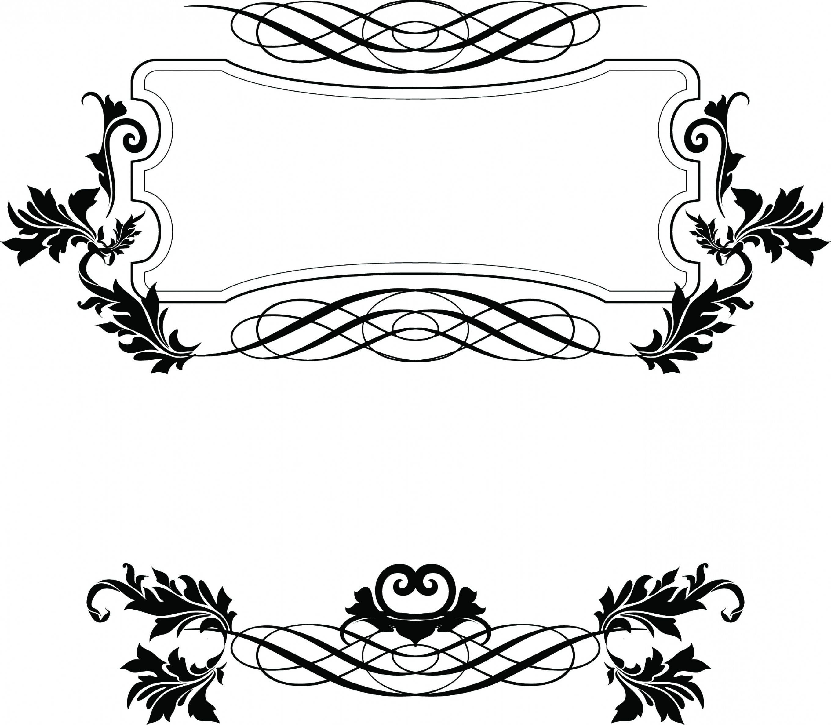 2721x2374 Decorative Border Designs For Projects Vector Vintage Decorative