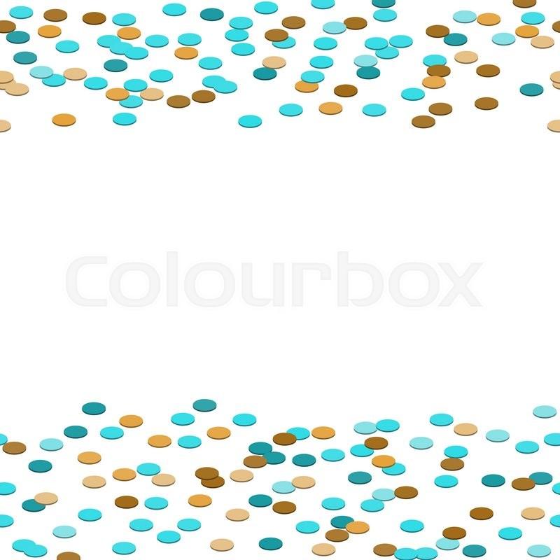 800x800 Confetti Tinsel Border Vector Background. Colorful Circles Frame