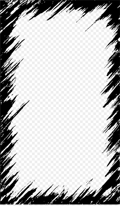 900x1540 Download Clip Art Black Graffiti Border Vector