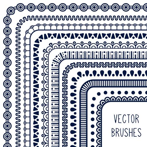 500x500 Line Corner Border Vector Material 03 Free Download