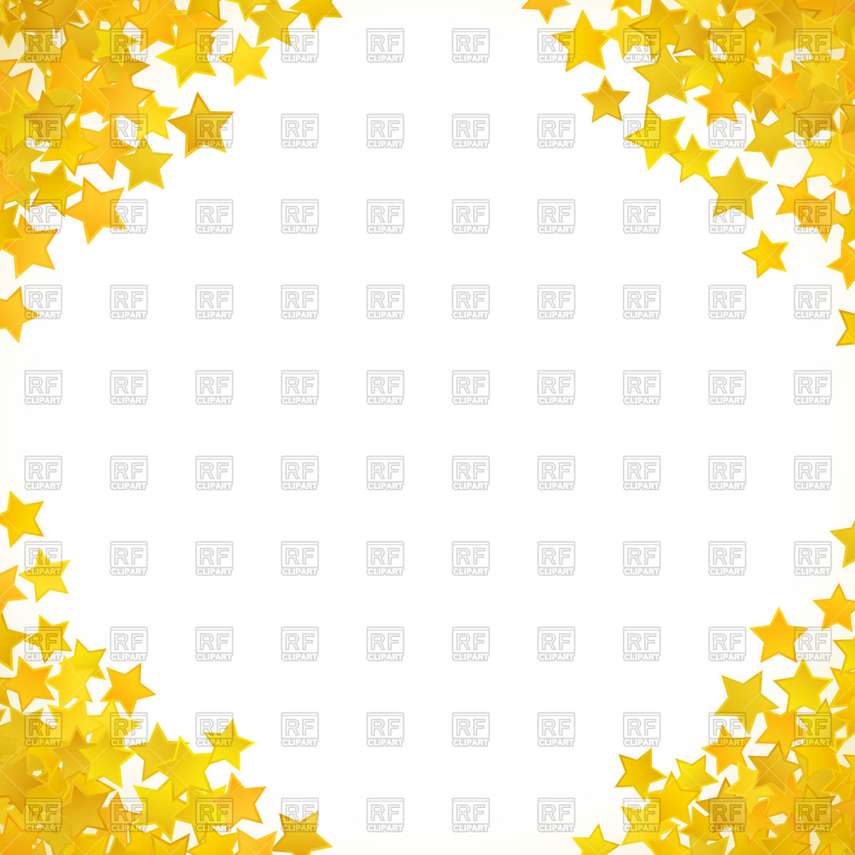 1200x1200 Abstract Yellow Star Border Vector Image Vector Artwork Of
