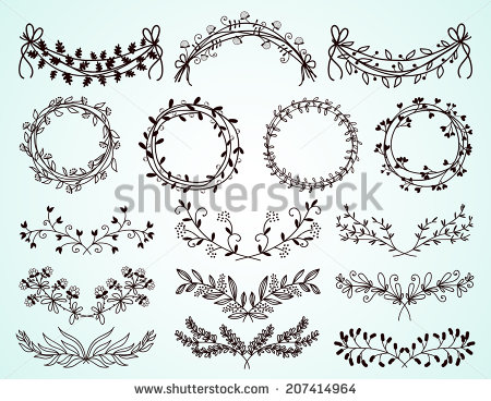 450x368 Florals Vector Free Download Round Vintage Flower Border Vector