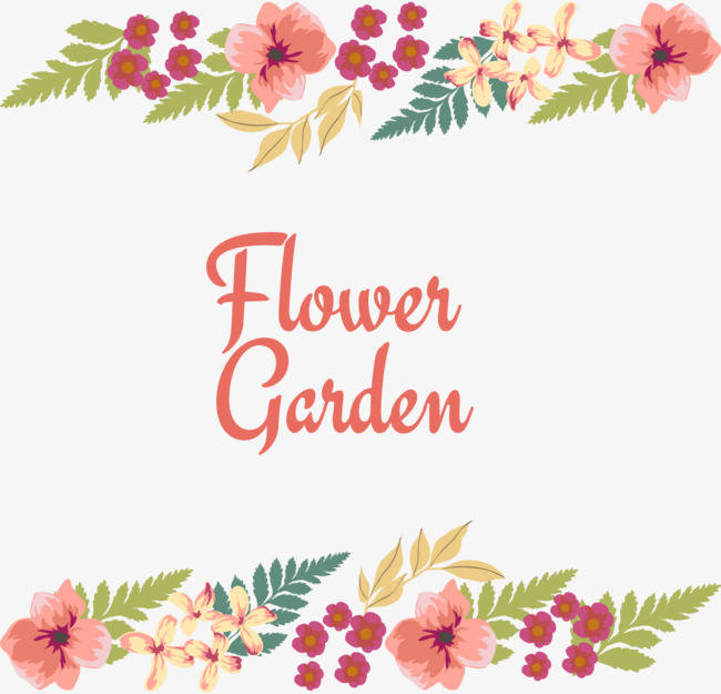650x625 Beautiful Flowers Border Vector, Border Vector, Garden, Flowers