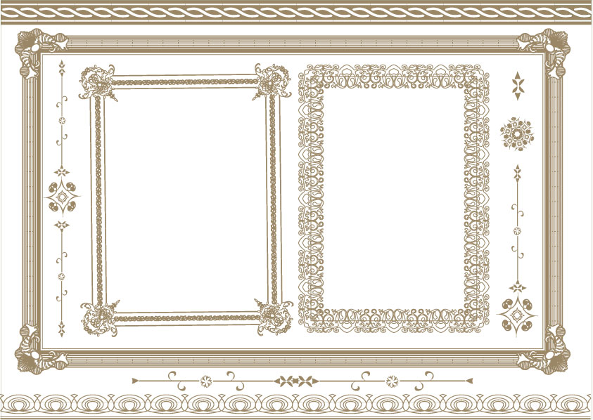 843x598 Practical Lace Border Vector Material 6 Free Download Web