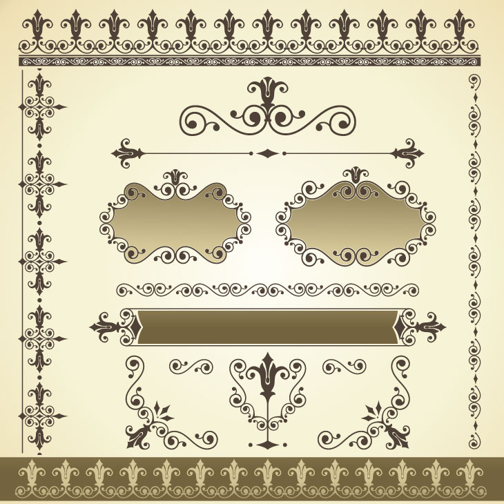 730x730 Vintage Patterns Border Vector 2 Vector Sources