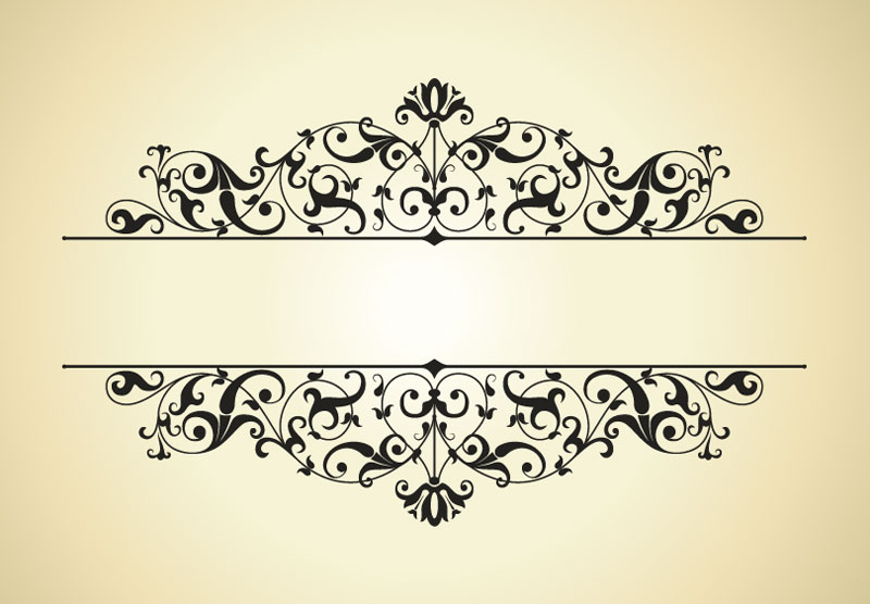 800x556 Vintage Patterns Border Vector 4 Vector Sources