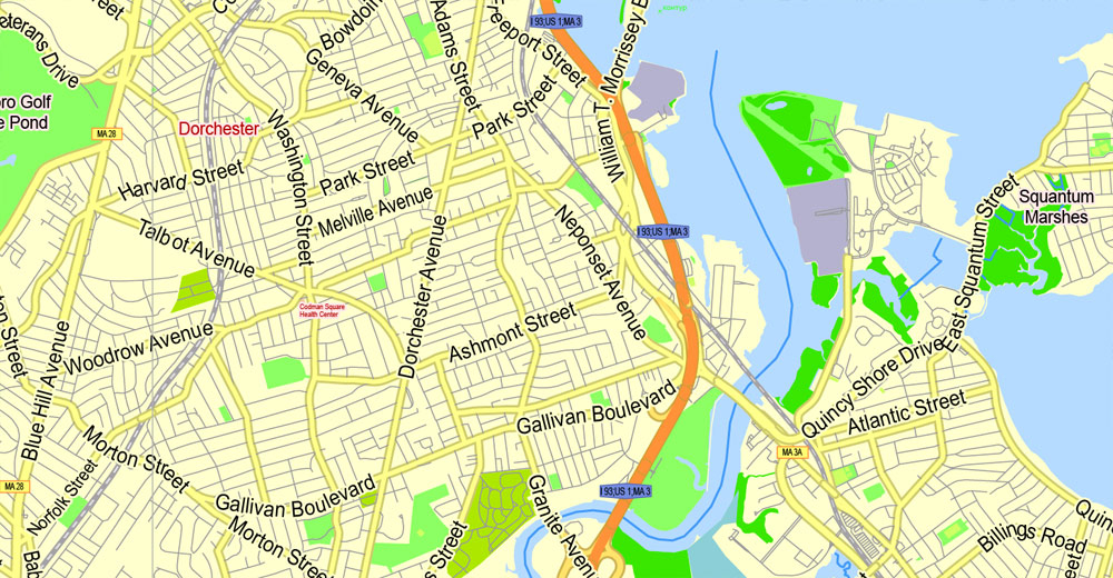 Boston Map Vector At Getdrawingscom Free For Personal Use Boston - Boston-on-map-of-us