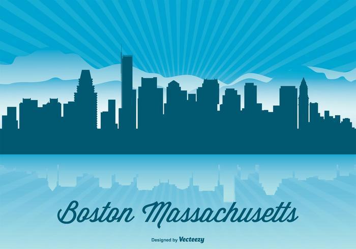 700x490 Boston Skyline Illustration