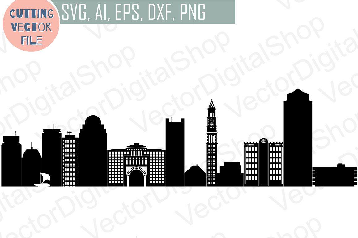 1158x772 Boston Skyline Vector, Massachusetts Usa City, Svg, Jpg, Png, Dwg