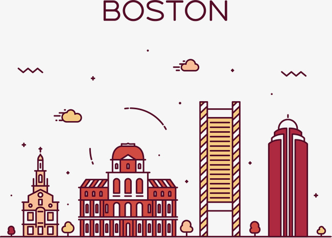 650x466 Boston Street View Vector, Hand, Gules, Castle Png And Vector For