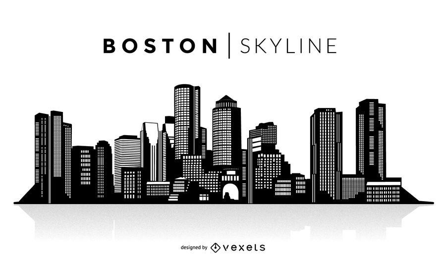 900x529 Boston Silhouette Skyline