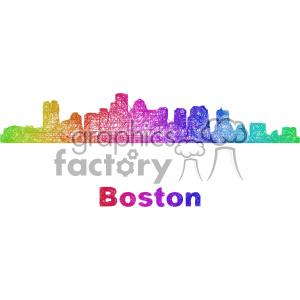 300x300 Royalty Free City Skyline Vector Clipart Usa Boston 402670 Vector