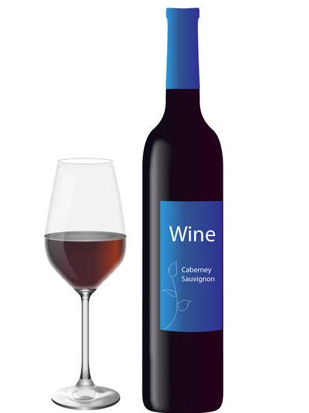 451x602 Descargar Vector Copa De Vino Tinto Con Botella Gratis 170551