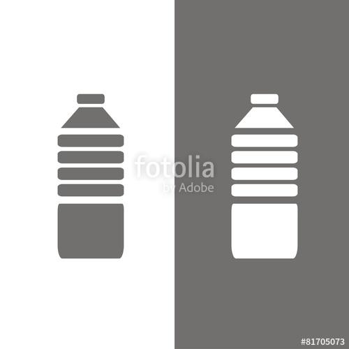 500x500 Icono Botella De Agua Bn Stock Image And Royalty Free Vector