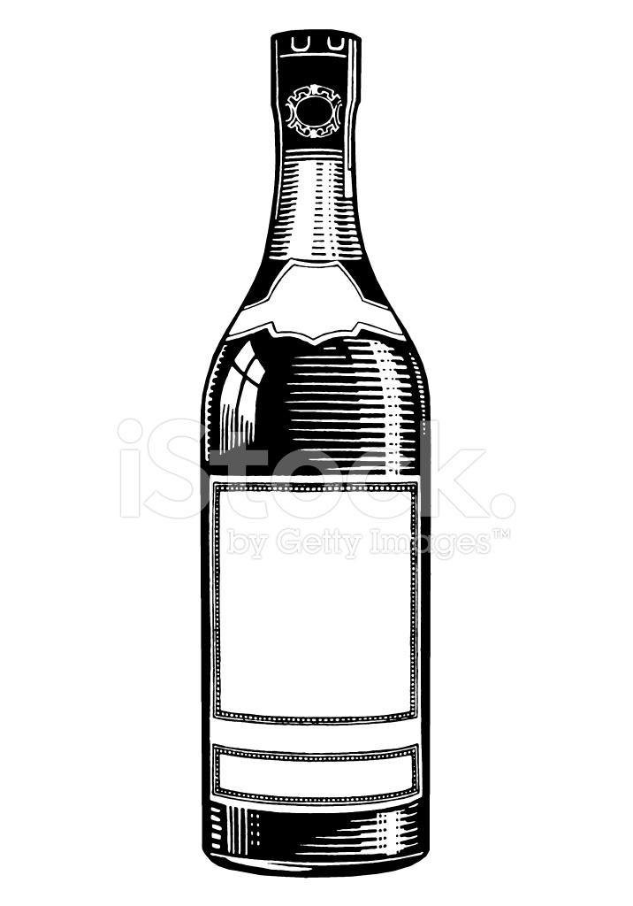 716x1024 Botella De Licor Stock Vector