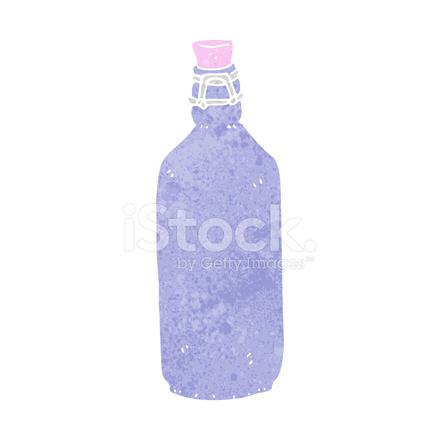 440x440 Botella Tradicional De Dibujos Animados Stock Vector