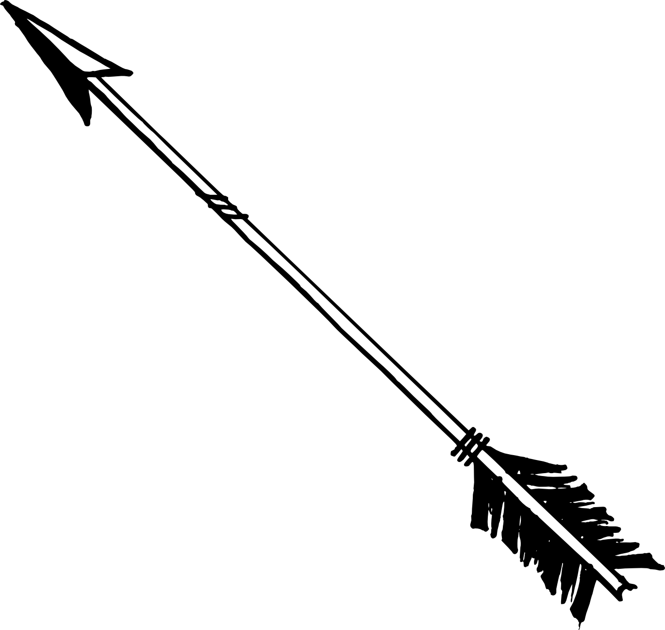 1370x1297 Bow Arrow Vector Png