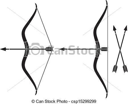 450x366 Bow And Arrow (Vector Bow Weapon With Arrow)