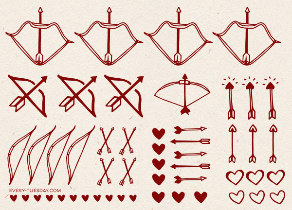 600x432 Freebie Vector Bows + Arrows