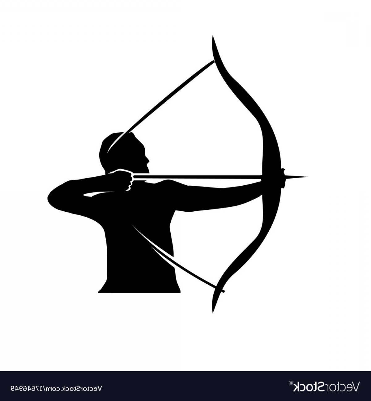 1200x1296 Man With Bow And Arrow Vector Shopatcloth