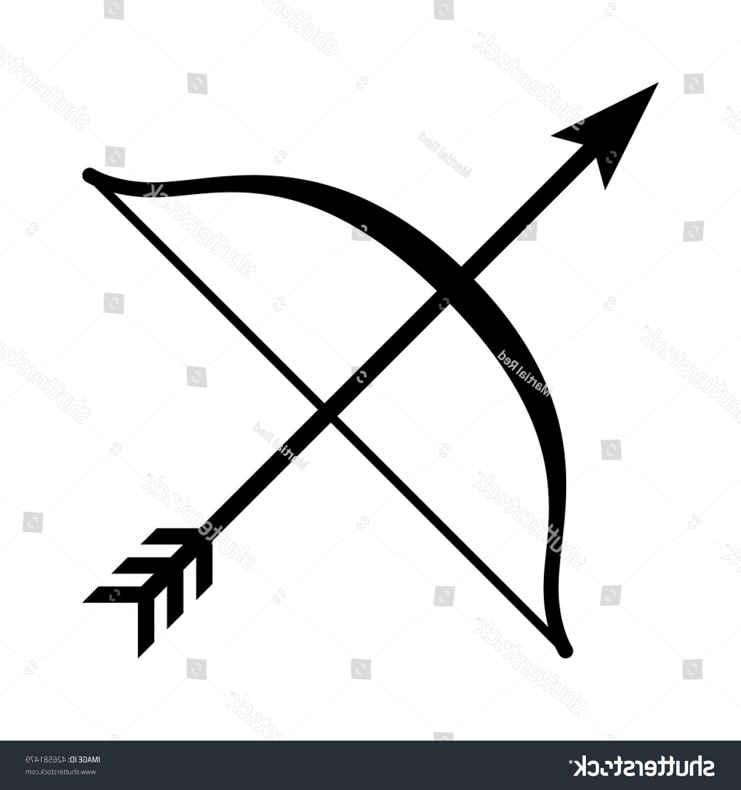 1500x1600 Best Stock Vector Long Bow Arrow Archery Line Art Icon For Games