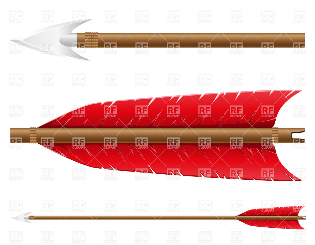 1200x933 Bow Arrow With Metal Arrowhead Isolated On White Background Vector