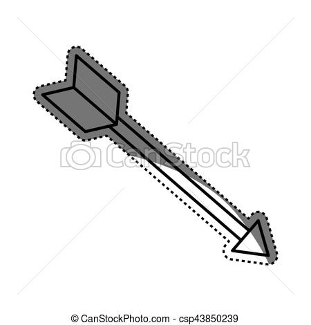 450x470 Isolated Bow Arrow Icon Vector Illustration Graphic Design.