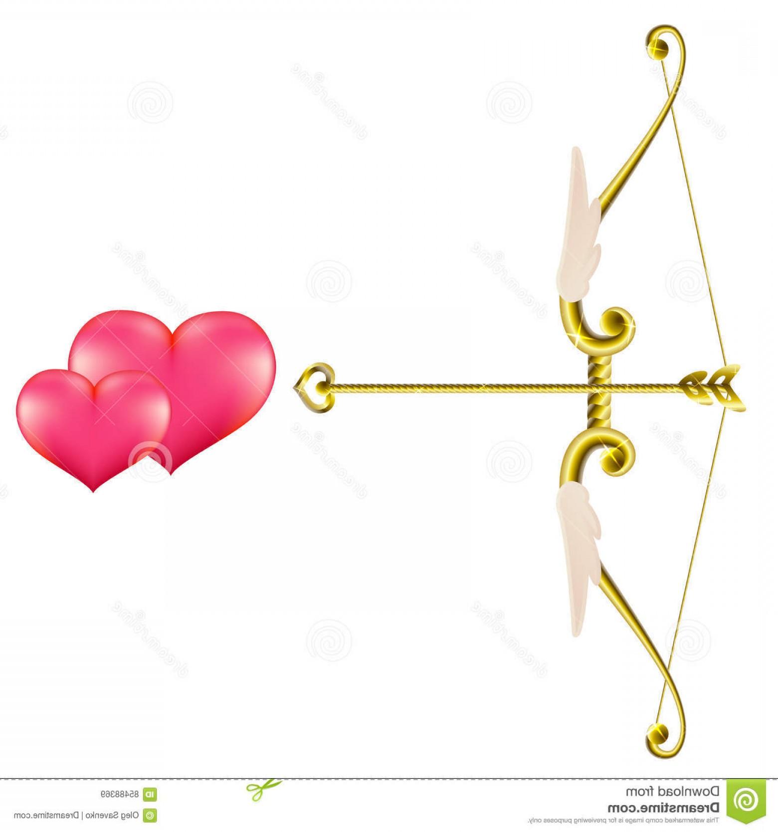 1560x1668 Stock Illustration Valentine S Day Gold Bow Arrow Vector Clip Art