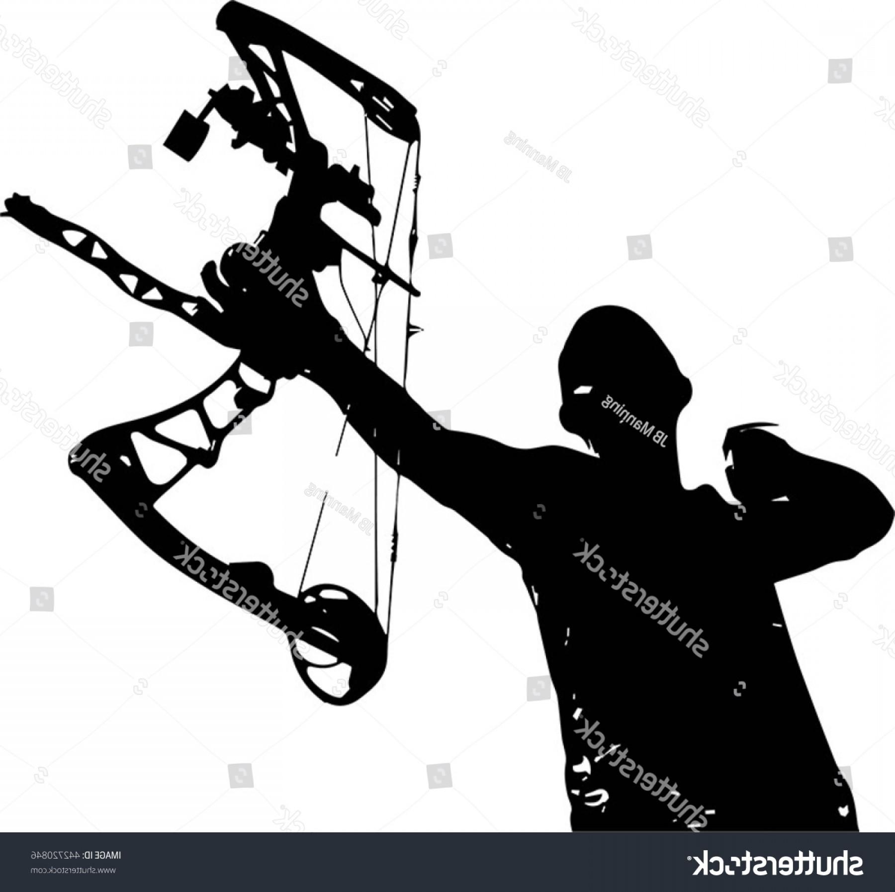 1800x1794 Vector Silhouette Hunter Bow Arrow Just Sohadacouri