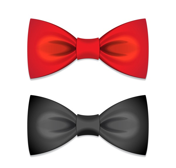 600x572 2 Exquisite Bow Tie Vector Graphics My Free Photoshop World