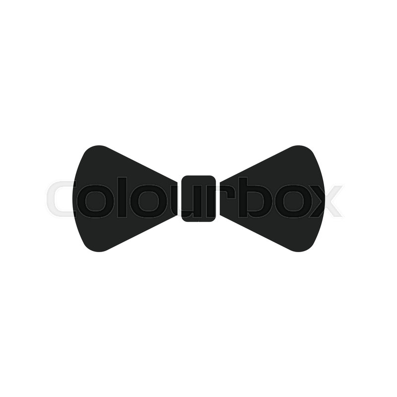 800x800 Bow Tie Flat Icon. Necktie Vector Illustration. Stock Vector