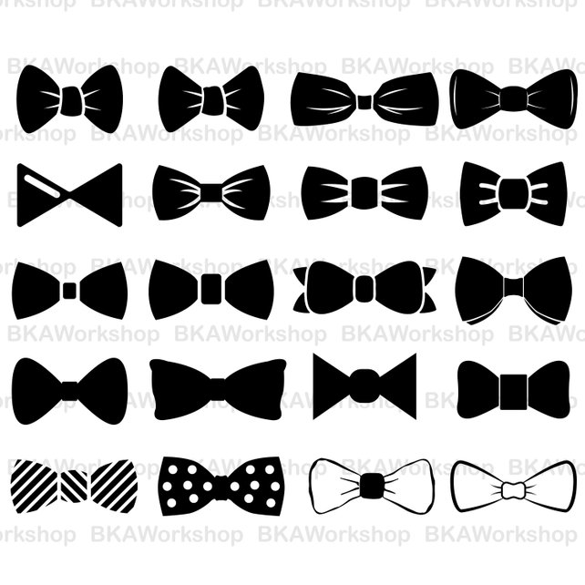 642x642 Bow Tie Svg Bow Tie Vector Bow Tie Silhouette Bow Tie Etsy