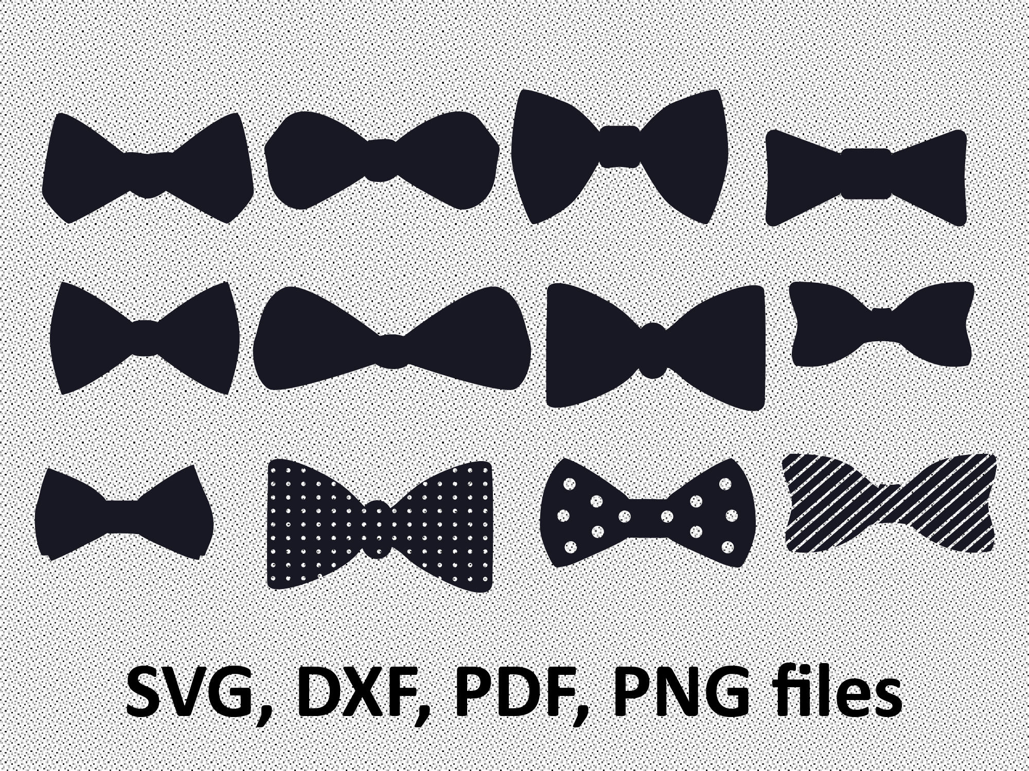 2000x1500 Bow Tie Svg File Bow Tie Clipart Bow Tie Silhouette File Etsy