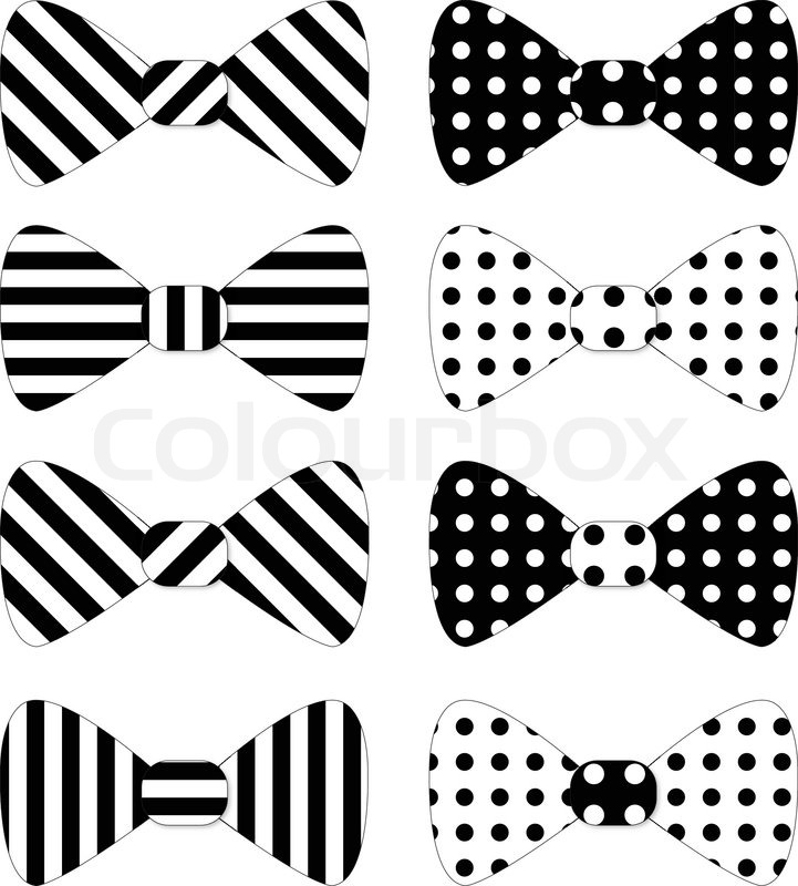 721x800 Set Of Red Vector Bow Ties Stock Vector Colourbox