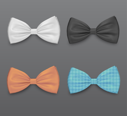 500x455 Four Colored Bow Tie Vector Material Download Free Vector,3d Model