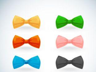 310x233 8 Color Bow Tie Vector Material Free Vectors Ui Download