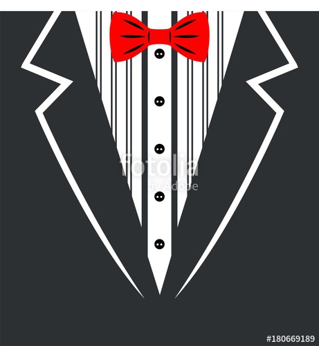 461x500 Vector Tuxedo With Bow Tie.vector Illustration Stock Image And