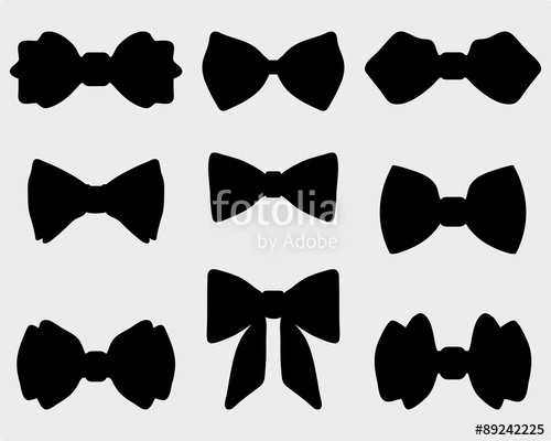 500x400 Black Silhouettes Of Bow Ties, Vector Stock Image And Royalty