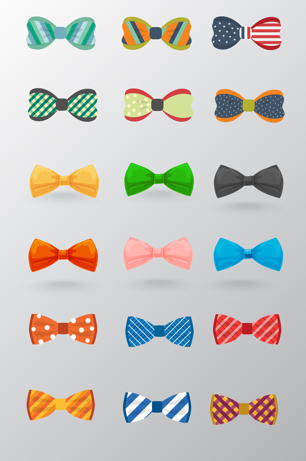 1024x1540 Color Bow Tie Vector Material Free Download Pikbest
