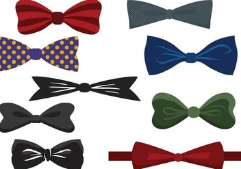 352x247 Vector Illustration Of Tie And Bow Tie With Neckerchief On Grey
