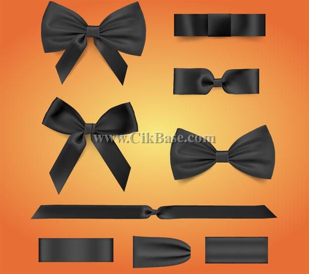 620x551 Vector Black Bow Tie Ribbon Graphic Design Graphic Ai File