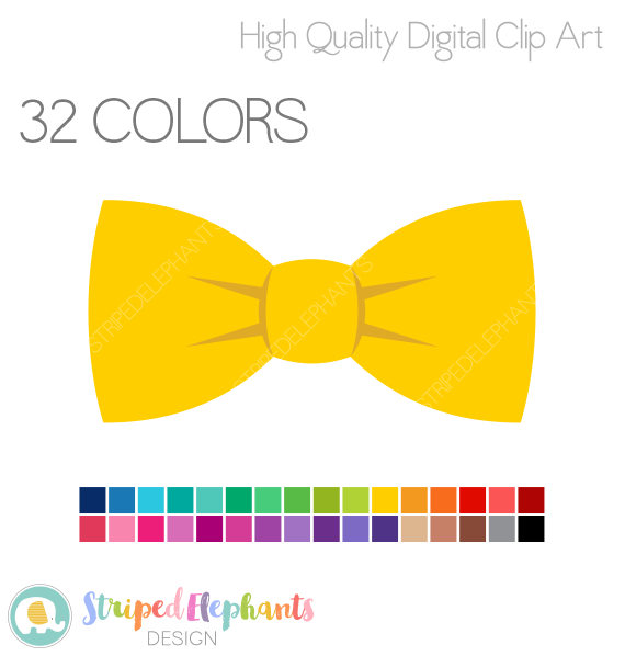 570x598 Bow Tie Clipart Yellow