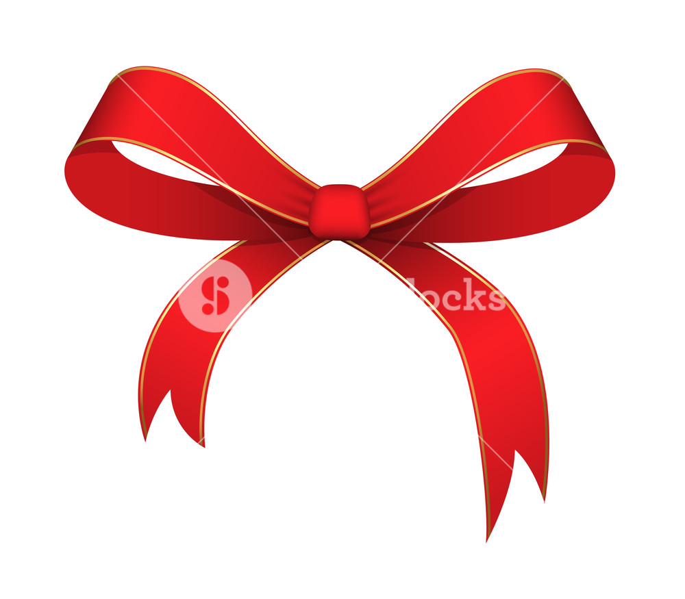 1000x875 Christmas Ribbon Bow Vector Royalty Free Stock Image