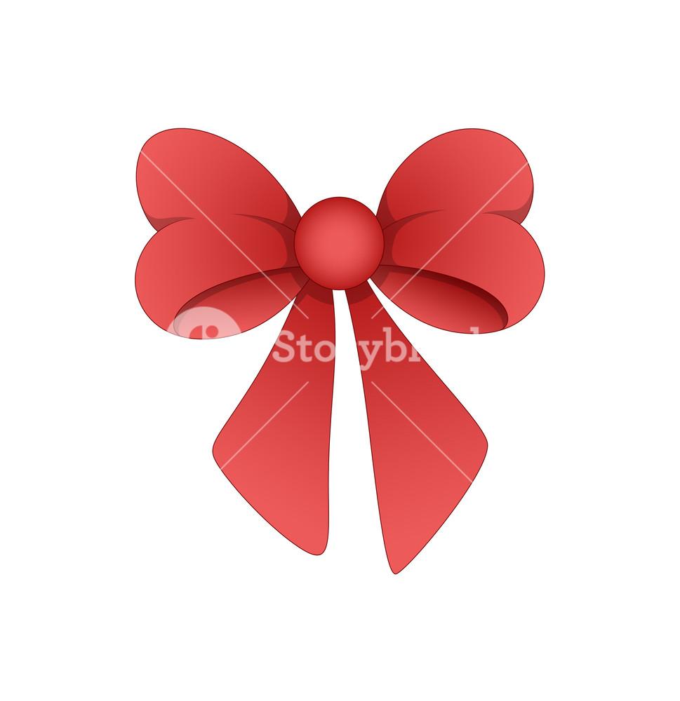 969x1000 Ribbon Bow Vector Royalty Free Stock Image