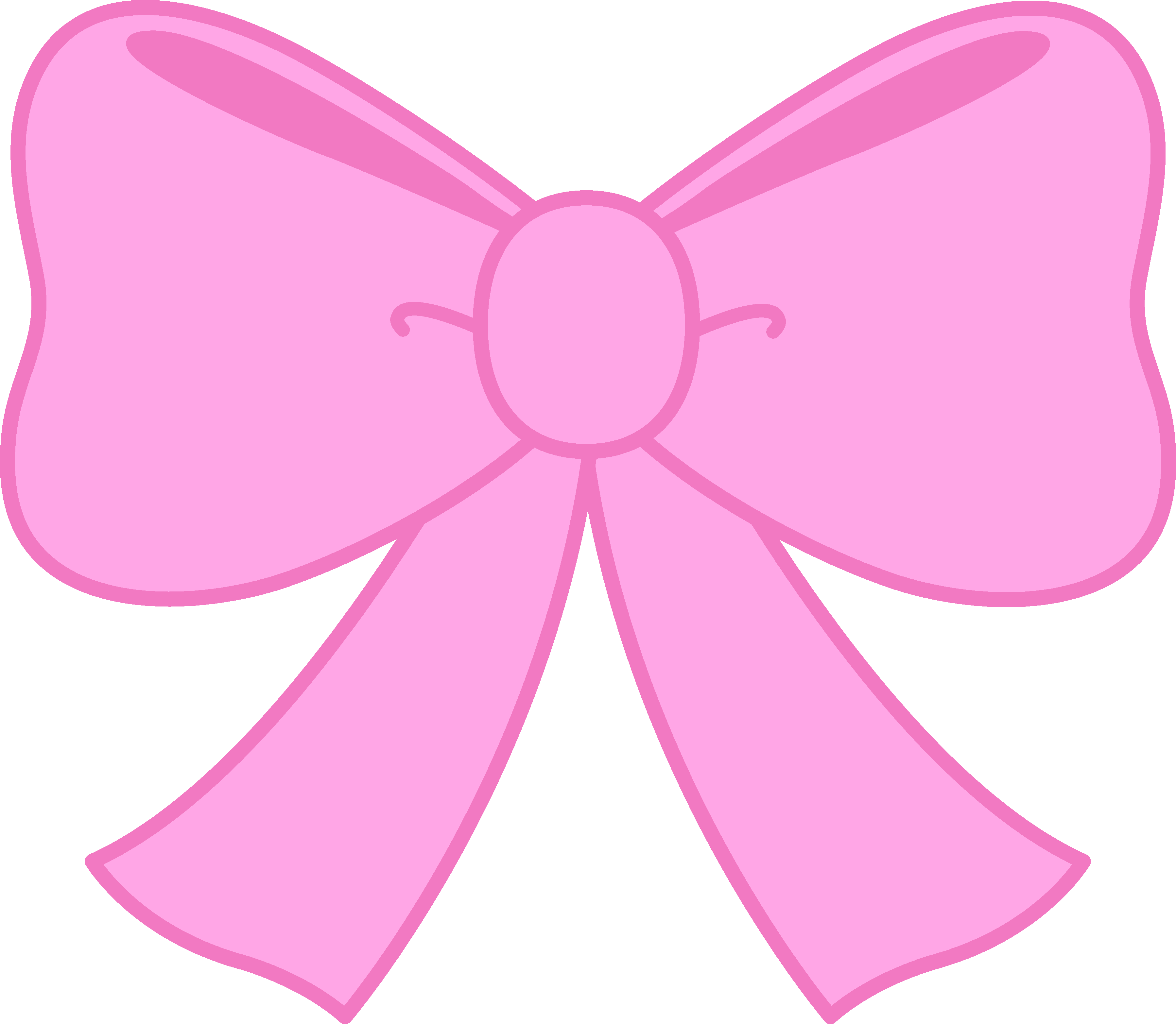 3596x3132 Cute Pink Bow Clipart