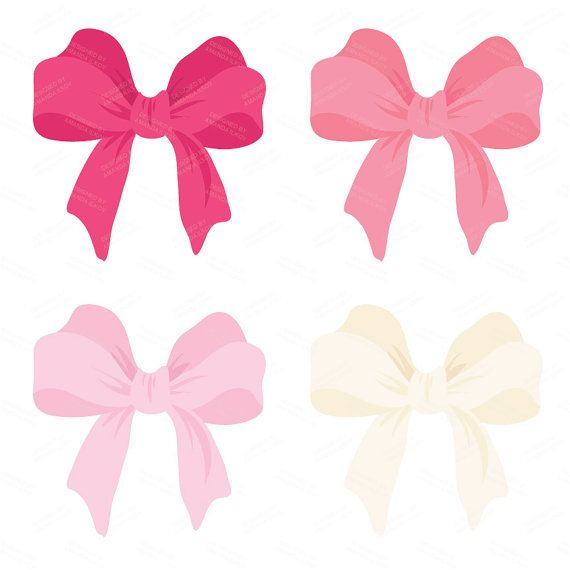 570x570 Large Pink Vector Bows Clipart Double Bow Clip Art By Amandailkov