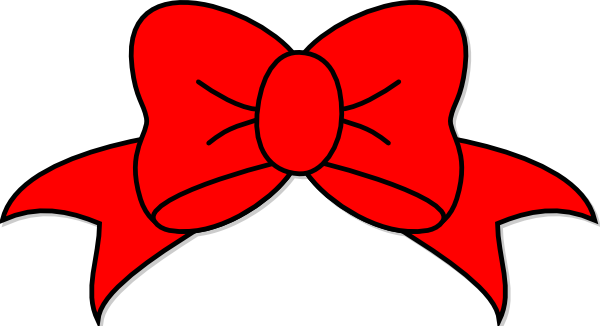 600x326 Red Bow Clip Art