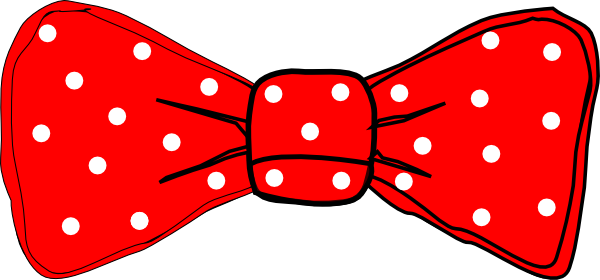 600x280 Red Hair Bow Clipart