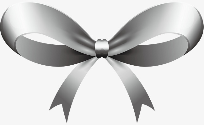 650x400 Silver Ribbon Bow, Ribbon Vector, Bow Vector, Vector Png Png And